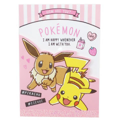 Japan Pokemon A6 Notepad - Pikachu & Eevee