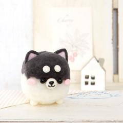 Japan Hamanaka Wool Pom Pom Craft Kit - Bonbon Shiba Inu Black
