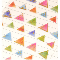 Colorful Stickers with Foil Gold - Triangle