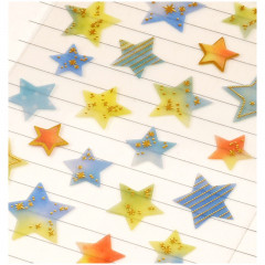 Colorful Stickers with Foil Gold - Stars