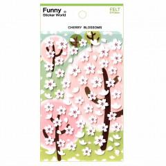 Korea Funny Sticker World Felt Sticker - Sakura Blossom