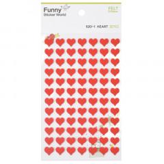 Korea Funny Sticker World Felt Sticker - Red Heart