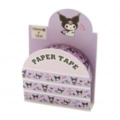Japan Sanrio Washi Paper Masking Tape - Kuromi