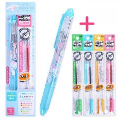 Japan Sanrio Hi-Tec-C Coleto 4-Color Multi Ball Pen - Cinnamoroll