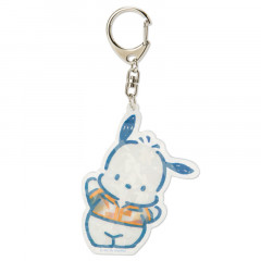 Japan Sanrio Sparking Hologram Charm Key Chain - Pochacco