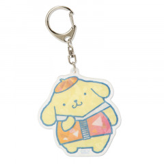 Japan Sanrio Sparking Hologram Charm Key Chain - Pompompurin
