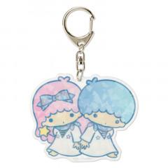 Japan Sanrio Sparking Hologram Charm Key Chain - Little Twin Stars