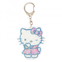 Japan Sanrio Sparking Hologram Charm Key Chain - Hello Kitty