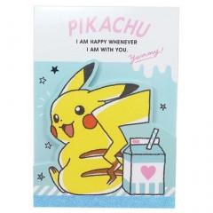Japan Pokemon A6 Notepad - Pikachu & Milk