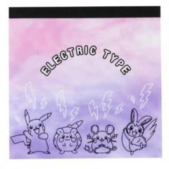 Japan Pokemon Memo Pad - Pikachu & Electronic Type Friends
