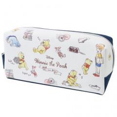 Japan Disney Makeup Pencil Bag Zipper Pouch - Winnie the Pooh & Friends