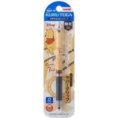 Japan Disney × Uni Kuru Toga Auto Lead Rotation 0.5mm Mechanical Pencil - Winnie The Pooh