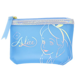 Japan Disney Zipper Pouch Wallet - Alice Blue