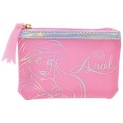 Japan Disney Zipper Pouch Wallet - Ariel Pink