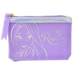 Japan Disney Zipper Pouch Wallet - Rapunzel Purple