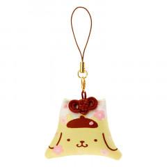 Japan Sanrio Mount Fuji Mascot Keychain - Pompompurin