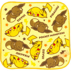 Japan Pokemon Fluffy Handkerchief - Pikachu & Eevee