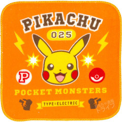 Japan Pokemon Fluffy Handkerchief - Pikachu