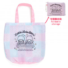 Japan Sanrio Eco Shopping Bag (M) - Little Twin Stars