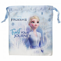 Japan Disney Drawstring Bag - Frozen II Elsa