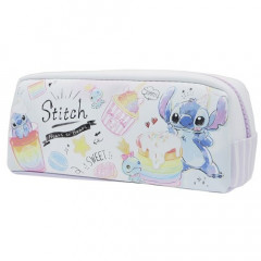 Japan Disney Pouch Makeup Bag Pencil Case - Stitch White