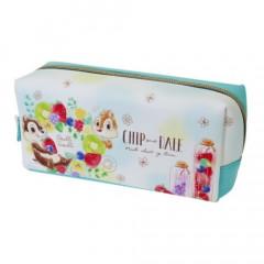Japan Disney Pouch Makeup Bag Pencil Case - Chip & Dale & Fruit