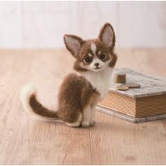 Japan Hamanaka Wool Needle Felting Kit - Chihuahua Dog