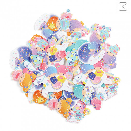Sanrio Flake Stickers 40pcs - Japanese Little Twin Stars - 2