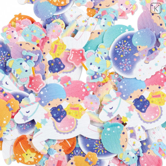 Sanrio Flake Stickers 40pcs - Japanese Little Twin Stars - 3