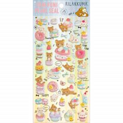 Japan San-X Rilakkuma Bear Seal Sticker - Pearl Bubble Desserts