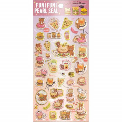 Japan San-X Rilakkuma Bear Seal Sticker - Pearl Bubble Burger Deli