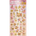 Japan San-X Rilakkuma Bear Seal Sticker - Pearl Bubble Burger Deli - 1
