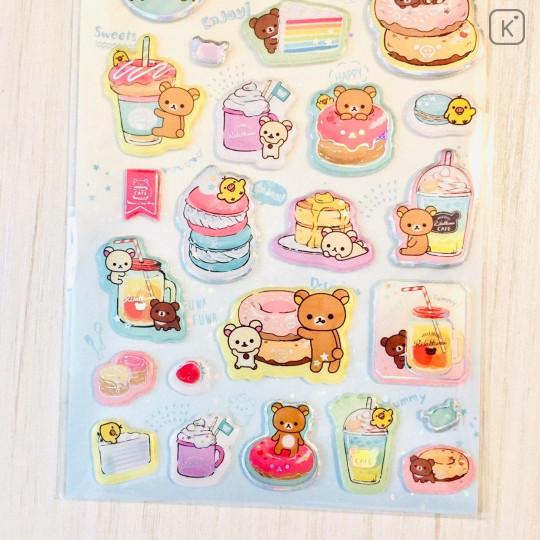 Japan San-X Rilakkuma Bear Seal Sticker - Pearl Bubble Donuts Deli - 3