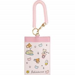 Japan San-X Rilakkuma Pass Case Card Holder - Pink