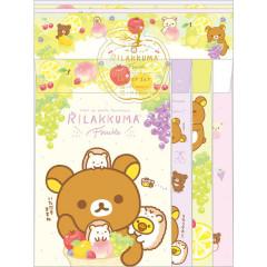 Japan Rilakkuma Letter Envelope Set - Fruit Party