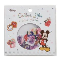 Japan Disney Masking Seal Flake Sticker - Glitter Mickey & Minnie