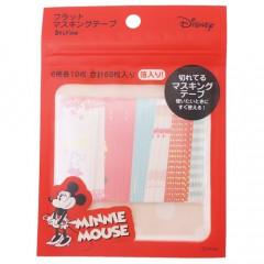Japan Disney Flat Masking Tape Sticker - Minnie