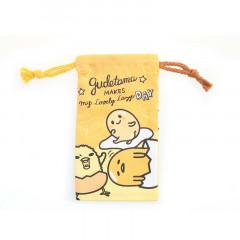 Sanrio Slim Drawstring Bag - Gudetama