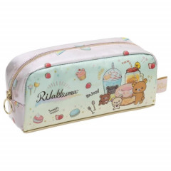 Japan Rilakkuma Zipper Makeup Stationery Pencil Bag Pouch - Dessert Time
