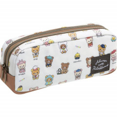 Japan Rilakkuma Zipper Makeup Stationery Pencil Bag Pouch - Travel Time