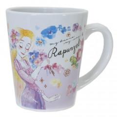 Japan Disney Princess Ceramic Mug - Rapunzel & Flower