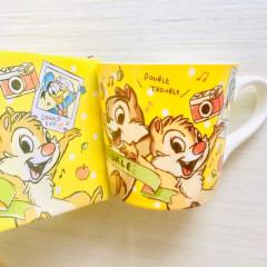 Japan Disney Ceramic Mug & Mini Towel Set - Chip & Dale & Donald Duck