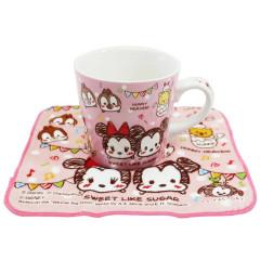 Japan Disney Ceramic Mug & Mini Towel Set - Tsum Tsum