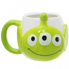 Japan Disney Die-cut Face Mug - Toy Story Little Green Men