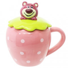 Japan Disney Die-cut Face Mug - Toy Story Lotso Strawberry