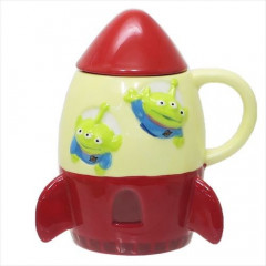 Japan Disney Die-cut Face Mug - Toy Story Little Green Men Rocket