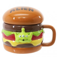 Japan Disney Die-cut Face Mug - Toy Story Little Green Men Burger