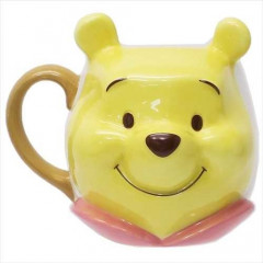 Japan Disney Die-cut Face Mug - Winnie The Pooh