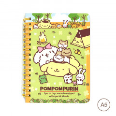 Sanrio A5 Twin Ring Notebook - Pompompurin