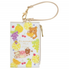 Japan San-X Rilakkuma Pass Case Card Holder & Coin Case- Fruit